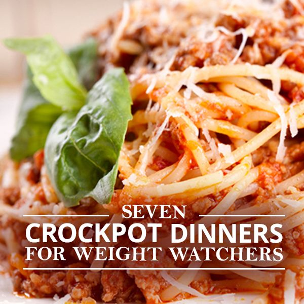7 Crockpot Dinners for Weight Watchers - Enjoy these delicious recipes with 7 points or less. #recipes