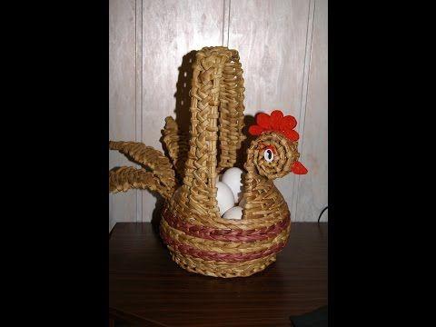 How to make  newspaper wicker basket chicken Cómo hacer cestas de periódico - YouTube