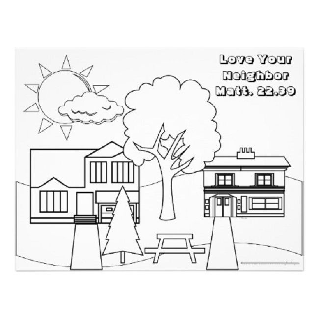 love your neighbor coloring pages