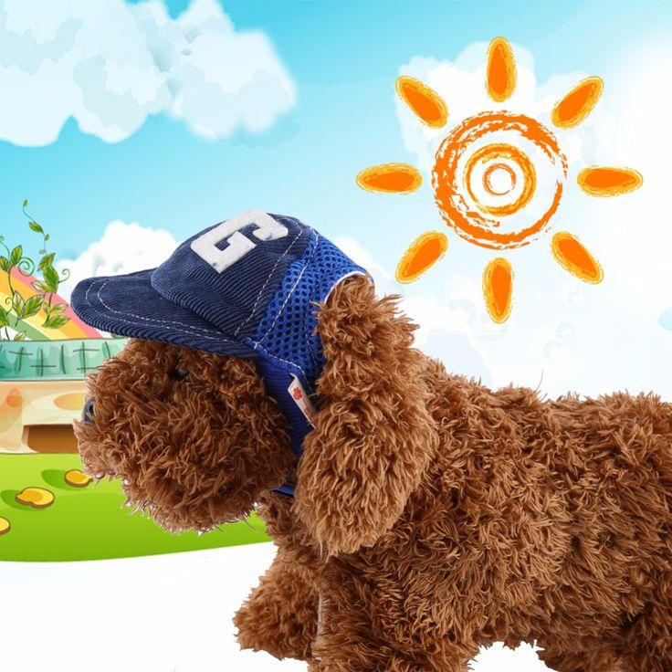 Adjustable S/L Puppy Dog Pet Hats Pet accessories beret Pet cap Dog hat Teddy Dog Poodle Hat hair Baseball Hat For Pet Windproof