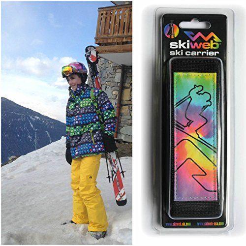 Porte-skis skiweb – arc-en-ciel: Porte Skis de Skiweb – Sûr d'être porté dans une poche ou un sac à dos pendant faire du ski – Pour des…