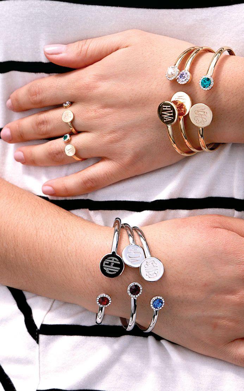 Monogrammed Birthstone Bracelet from Beka Lane