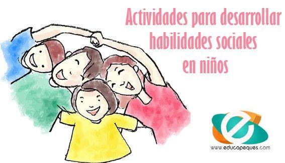 Actividades para desarrollar habilidades sociales en niños