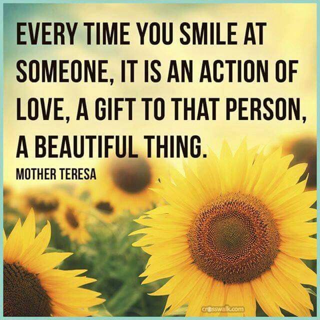Every Time You Smile At Someone, It Is An Action Of Love