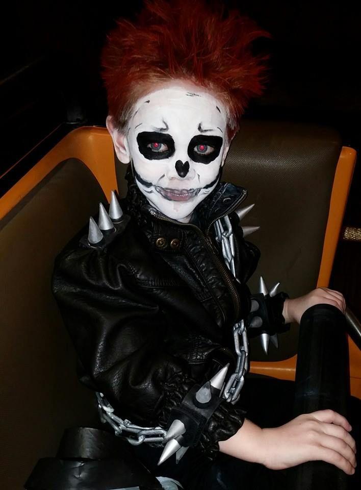 Ghost rider makeup mugeek vidalondon ghost rider diy costume he loved it solutioingenieria Gallery