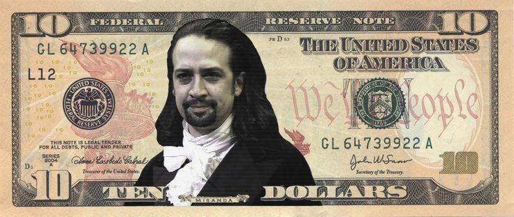 Hamilton: Lin-Manuel Miranda $10 Bill