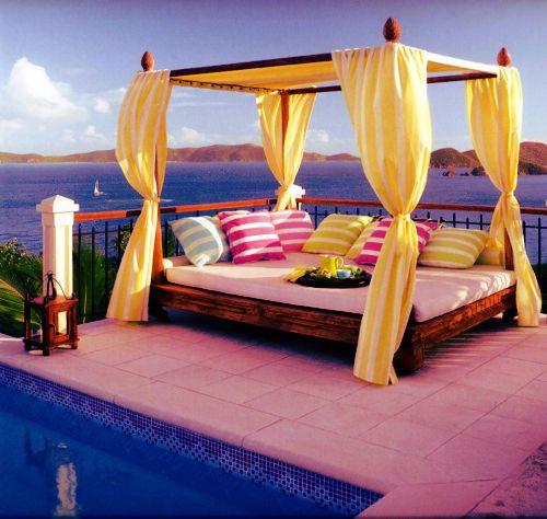 dope!: Outdoor Beds, Huts, Colors, Canopies Beds, Backyard, Places, Beaches Houses, Pools, Ocean View