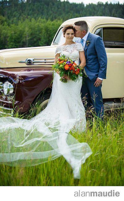 Antique truck. Calgary Rustic Ranch Wedding Photography