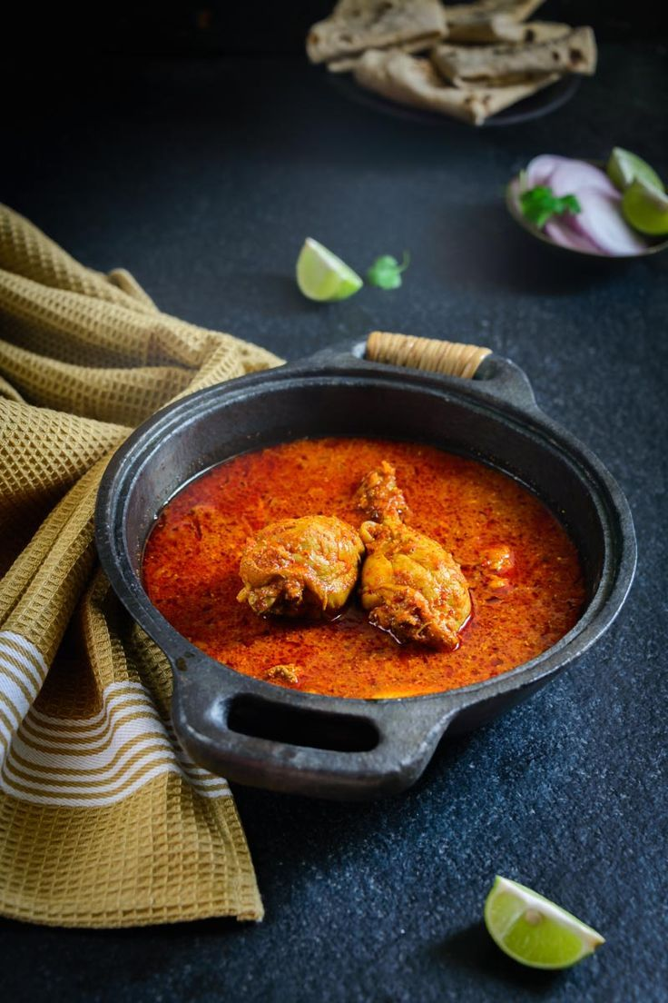 Chicken Vindaloo is a traditional Goan dish with a fiery red color and a slight tang from vinegar. Here is a tried and tested recipe. #Chicken #Goan #Indian #Curry