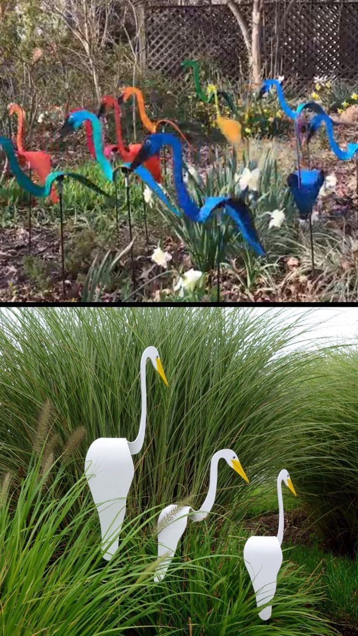Swirling Birds Yard Decorations Decoration Jardin Jardins Idees De Jardinage