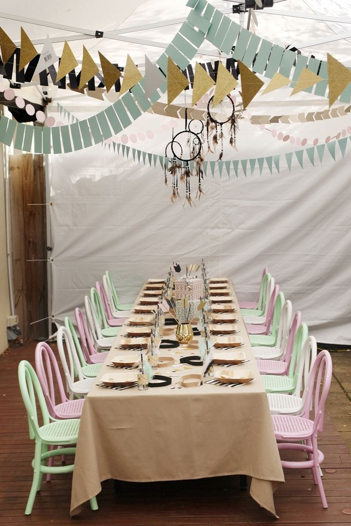 Boy and Girl Aztec Birthday Party Table