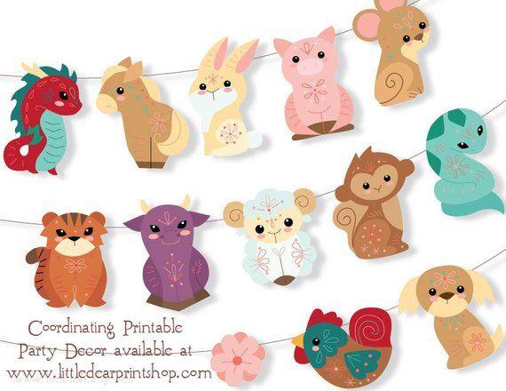 All 12 Chinese Zodiac Felt Animals Plush Sewing Patterns Pdf Etsy Felt Animals Stuffed Animal Patterns Plush Pattern