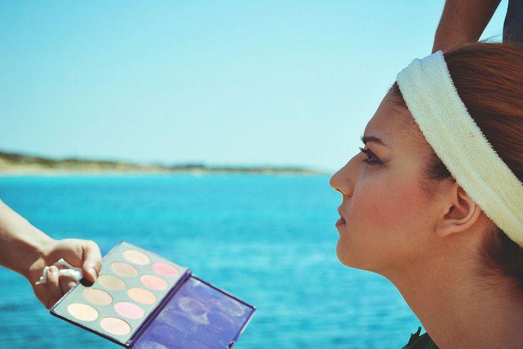 backstage_torneraiConMe_videoclip_Flake  Photo: Virginia Pavoncello #makeup #mare #puglia #sea #italia #italy