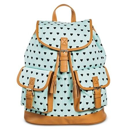 Women's Heart Print Backpack Handbag Mint - Mossimo Supply Co. : Target $29.99