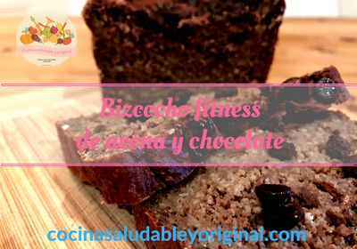bizcocho fitness avena y chocolate