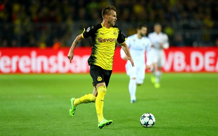 Download wallpapers Andrey Yarmolenko, match, BVB, footballers, Borussia Dortmund, soccer, Bundesliga, Andriy Yarmolenko