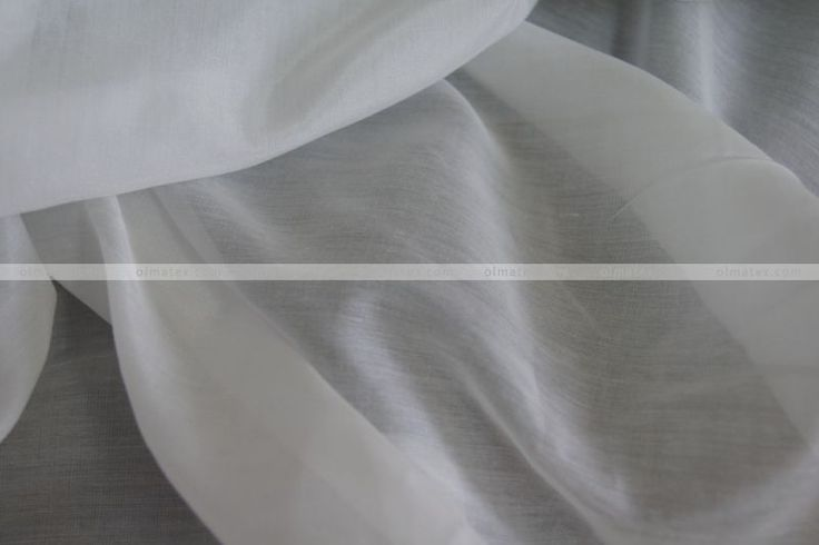 Купить Батист шелковый отбеленный - белый, шелк, батист, хлопок, натуральный шелк, ткань для батика