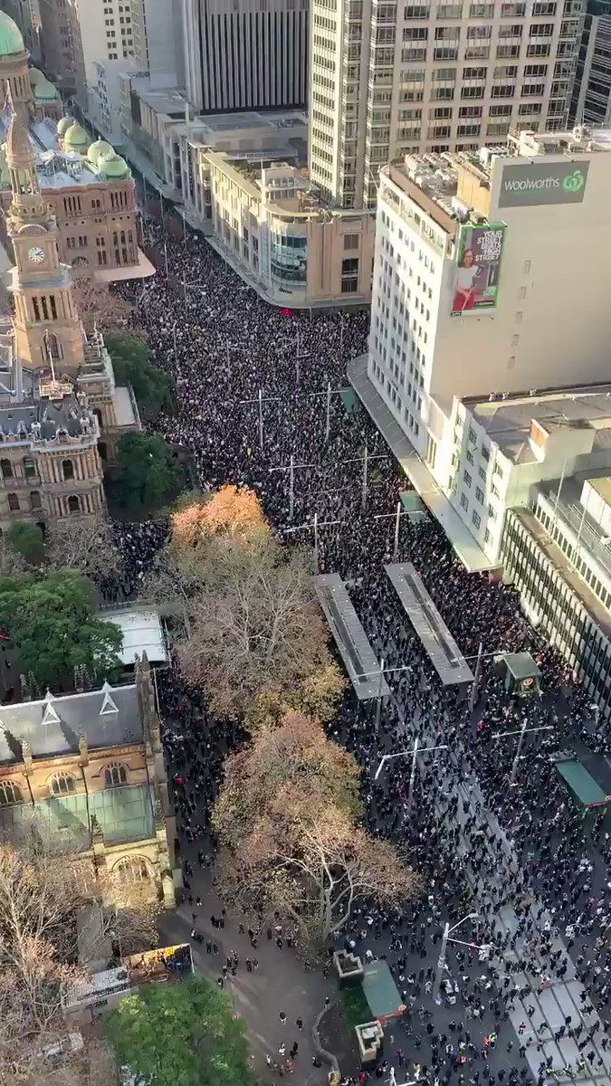 More Than 50 000 People Showed Up To Today S Sydneyprotest In Support Of Blacklive Black Lives Matter Protest Black Lives Matter Movement Power To The People