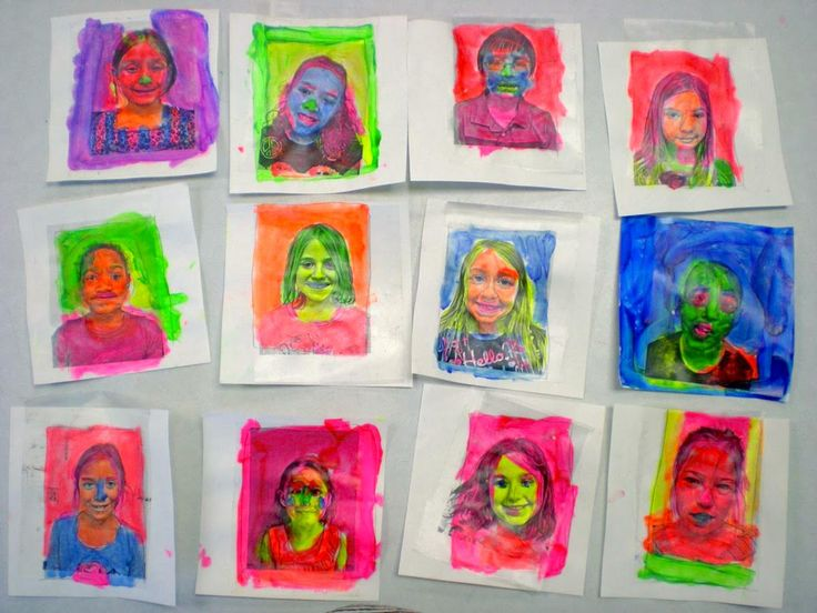 Pop Art Face Transfers: Free Lesson Plan Download - The Art of Ed