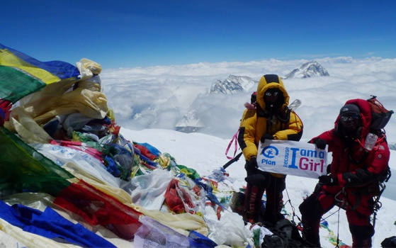 """""""When I touched the peak, I couldn't believe I was at the top of #Everest. It was my lifetime dream that came true, thanks to my family's support,"""" said Nishat on May 19th after she made history as first #Bangladeshi woman to reach the top of the world's highest mountain.  Once there, she planted a Because I am a Girl flag.Awesome Asia, Bangladeshi Woman, Girls Campaigns, Everest, Girls Generation, Biaag Flags, Girls Flags, Girls Media, I Am"""