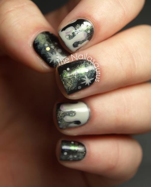 31DC2012: Day 19 Galaxy Nails, via The Nailasaurus