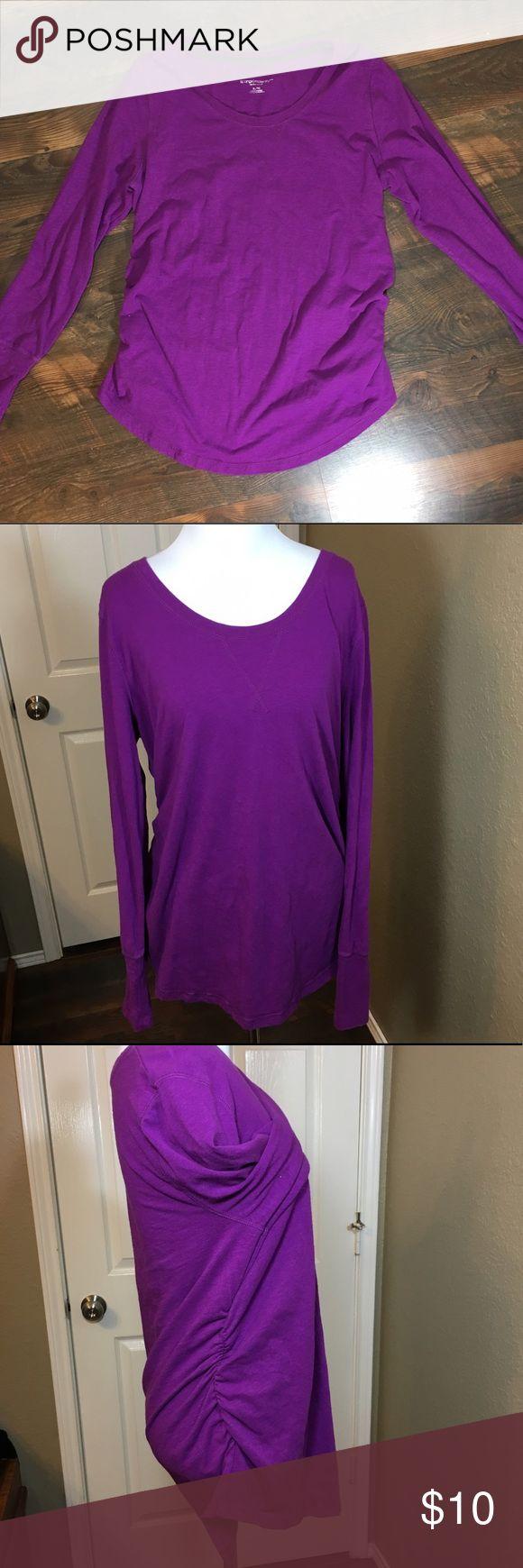 "Liz Lange maternity purple long sleeve top XL Ruched sides. Bust 21"", sleeve 25"", length 28"" Liz Lange for Target Tops Tees - Long Sleeve"