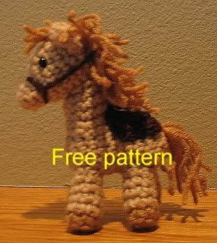 crochet horse, Almost done making one of these and it is super cute! Works up pretty quick too :3