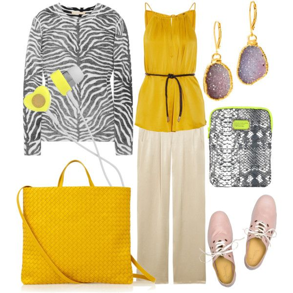 how to wear a yellow bag