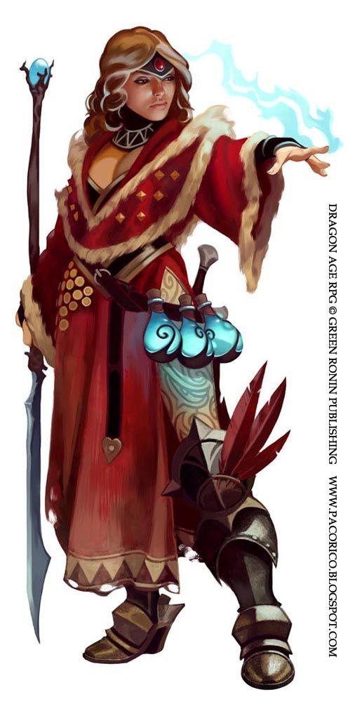 Dragon Age mage again by ~Mancomb-Seepwood on deviantART