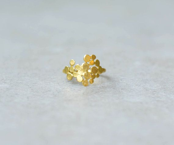 Cluster ring gold ring Christmas gift black friday by StudioBALADI