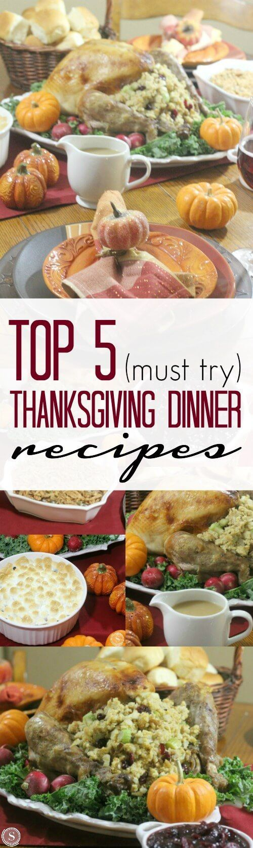 How to Make a Homemade Thanksgiving Turkey Dinner! Top 5 Thanksgiving Dinner and Side Dish Recipes for the Holidays!