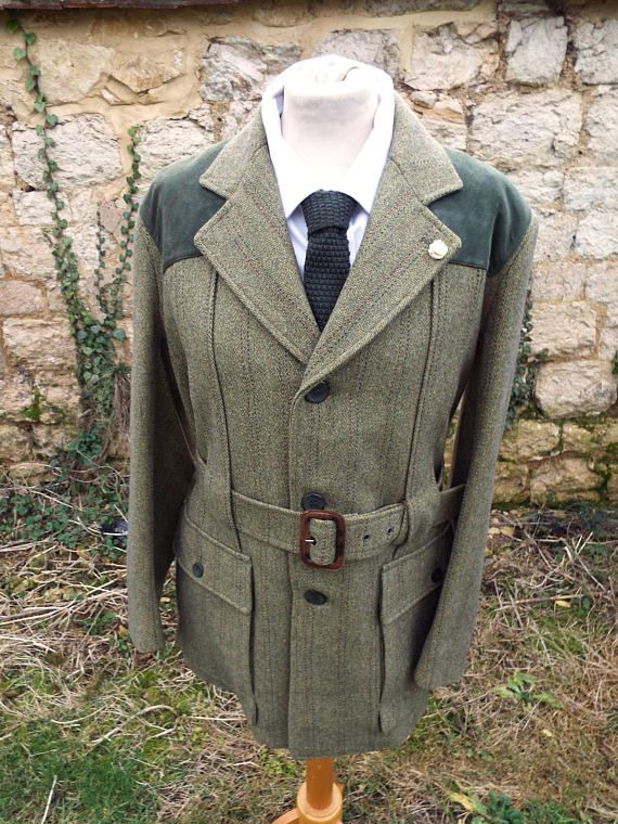 Tweed Jacket Vintage Tweed Jacket Belted Tweed Jacket Vintage Tweed Jacket Tweed Jacket Hunting Jackets