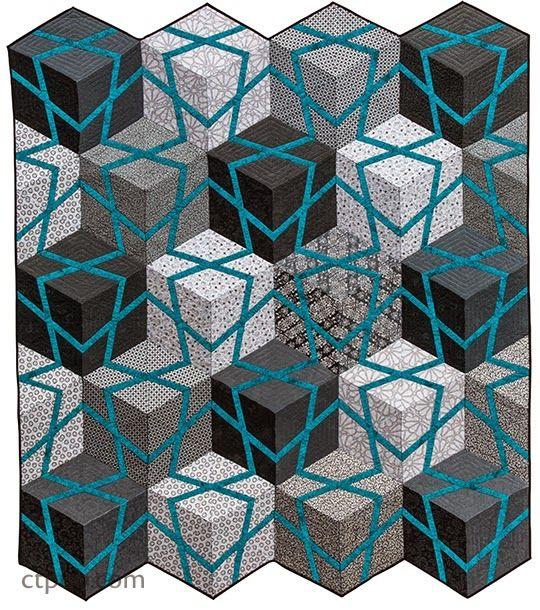 188 Best Tumbling Blocks Quilts Images On Pinterest