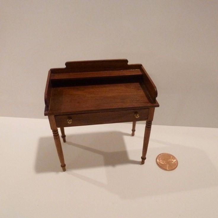 MINIATURE WOODEN DESK /  DRESSER TABLE BY ESCUTCHEON ( UK ) in Dolls & Bears, Dollhouse Miniatures, Artist Offerings | eBay