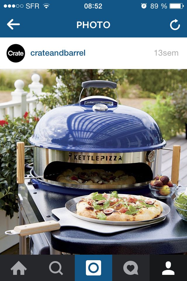 Pizza four à pain barbecue grill