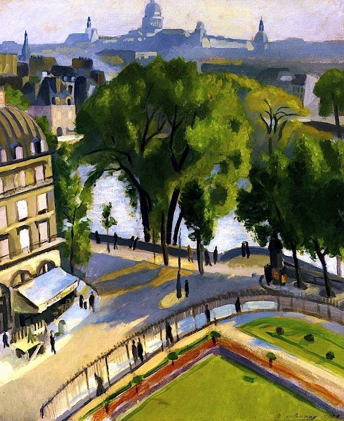 View of the Quai de Louvre Robert Delaunay - 1928