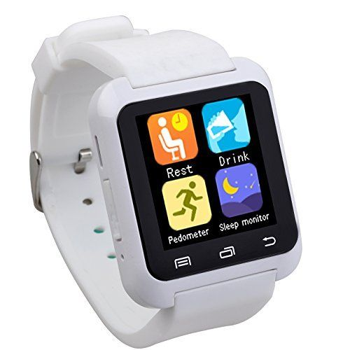 Luxury U80 Bluetooth 4.0 Smart Watch Wrist Wrap Watch Phone Update U8 for IOS Apple iphone 4/4S/5/5C/5S Android Samsung S2/S3/S4/S5/Note 2/Note 3 HTC (U80 White)  #2note #44s55c5s #android #Apple #Bluetooth #iPhone #Luxury #phone #s2s3s4s5note #Samsung #Smart #Update #Watch #White #wrap #Wrist MonitorWatches.com