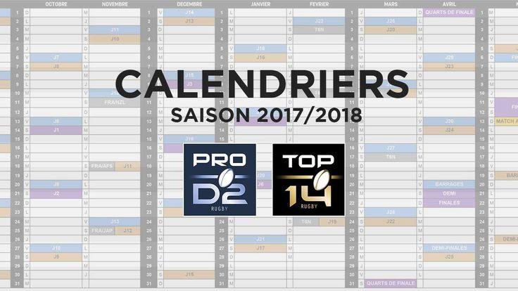 CALENDRIERS 2017/2018 DE TOP 14 ET PRO D2 | LNR