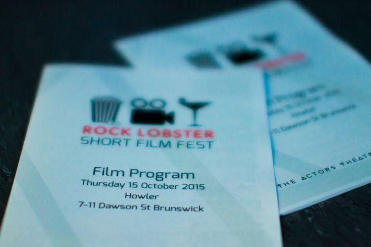 Rock Lobster Short Film Fest program. ATC fundraiser, 2015.