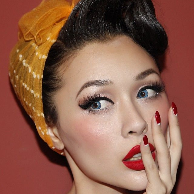 Love this Rockabilly Style Hair and Makeup! :: Pin Up Girl Makeup:: Rockabilly Style:: Rockabilly Girl