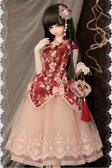 Large: *****Sakura Town***** (Volks Charlotte in Chinese style Lolita dress made by myself)