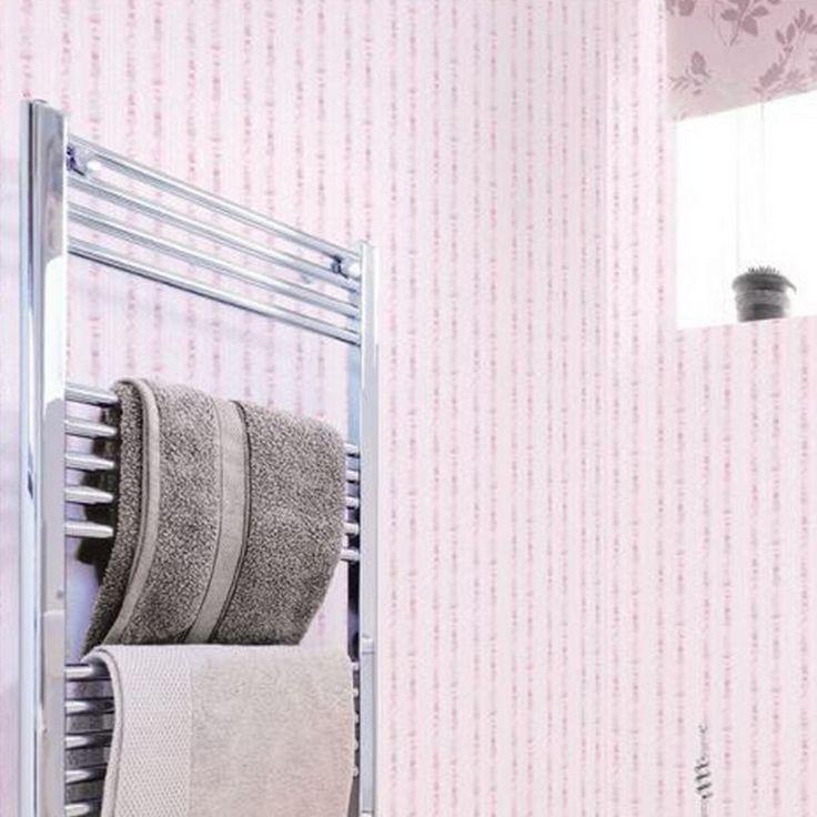 el cuarto de bao es tambin un lugar perfecto para colocar un papel pintado vinlico de
