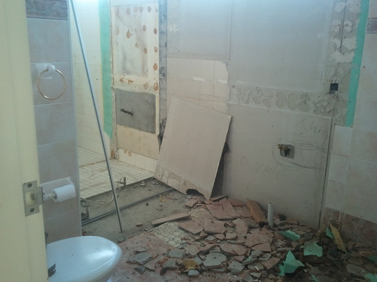 From the old second bathroom into the ensuite