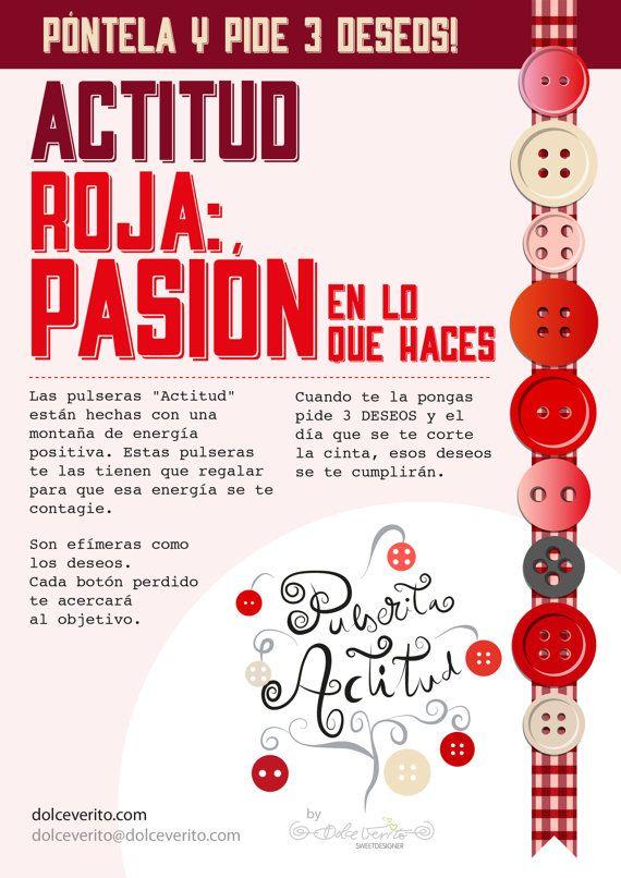 Actitud Roja  Pasión por lo que haces by DolceVerito on Etsy, $5.30