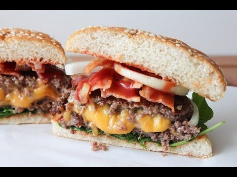 How To Make A Cheese Stuffed Bacon Burger - By One Kitchen Episode 252