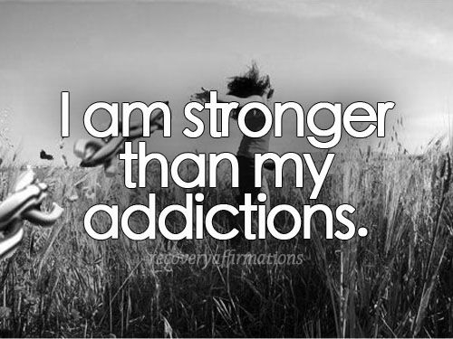 Recovery Affirmations. Chocolate and sugar addictions are not a joke.