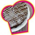 Brownie met chocolade glazuur