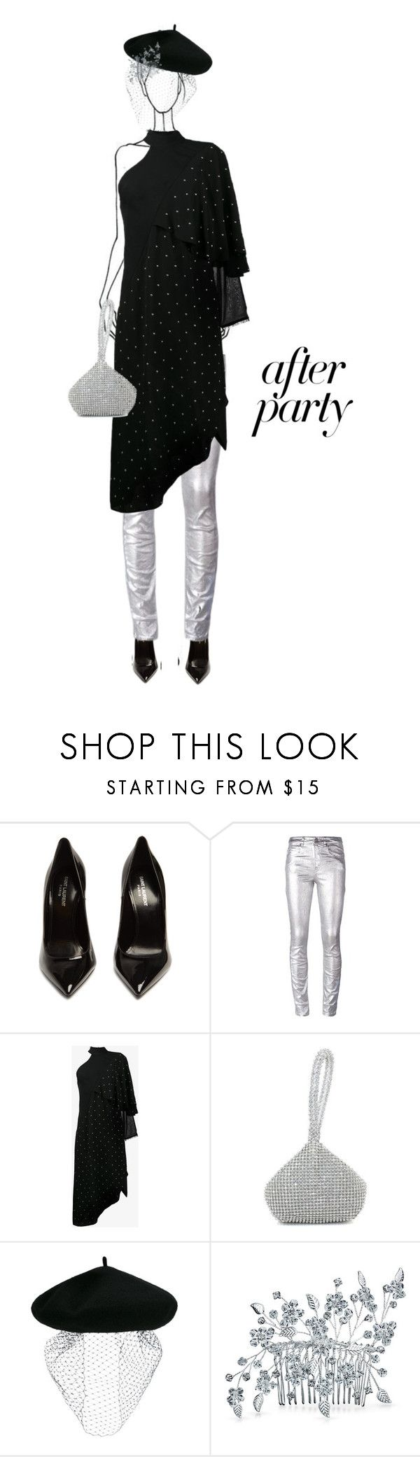 """""""Untitled #1369"""" by letiperez-reall ❤ liked on Polyvore featuring Yves Saint Laurent, Étoile Isabel Marant, Kitx, Silver Spoon Attire, Bling Jewelry, polyvoreeditorial, polyvorecontest and afterpary"""