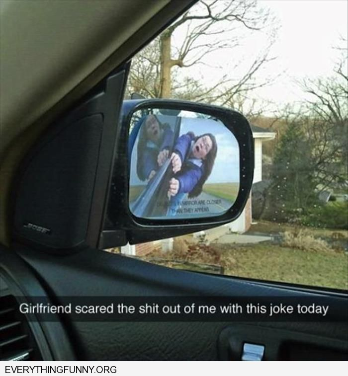 Funny Prank Girlfriend Puts Picture Of Herself Being Dragged On My Sideview Mirror Ptrank
