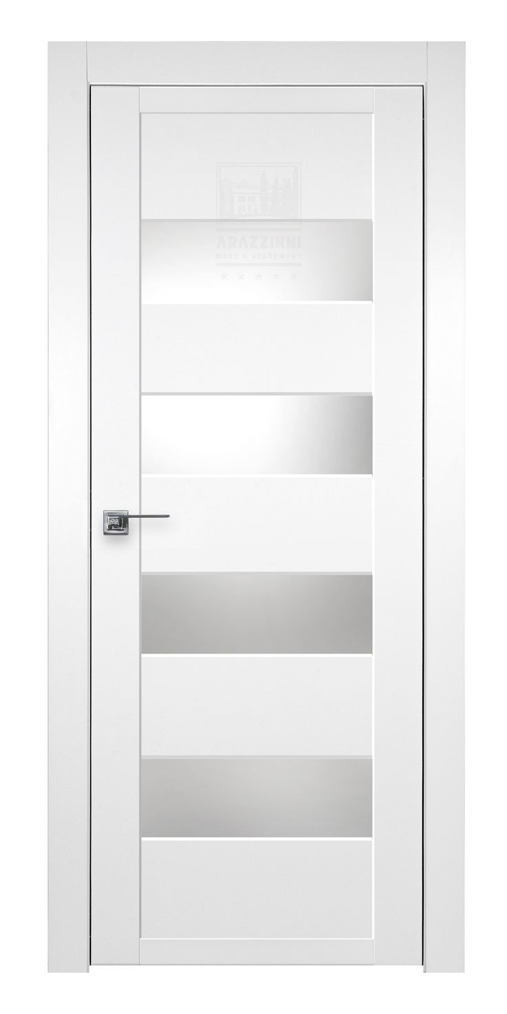 Modern white interior door - Arazzinni Smartpro 4g Polar White Modern Interior Door